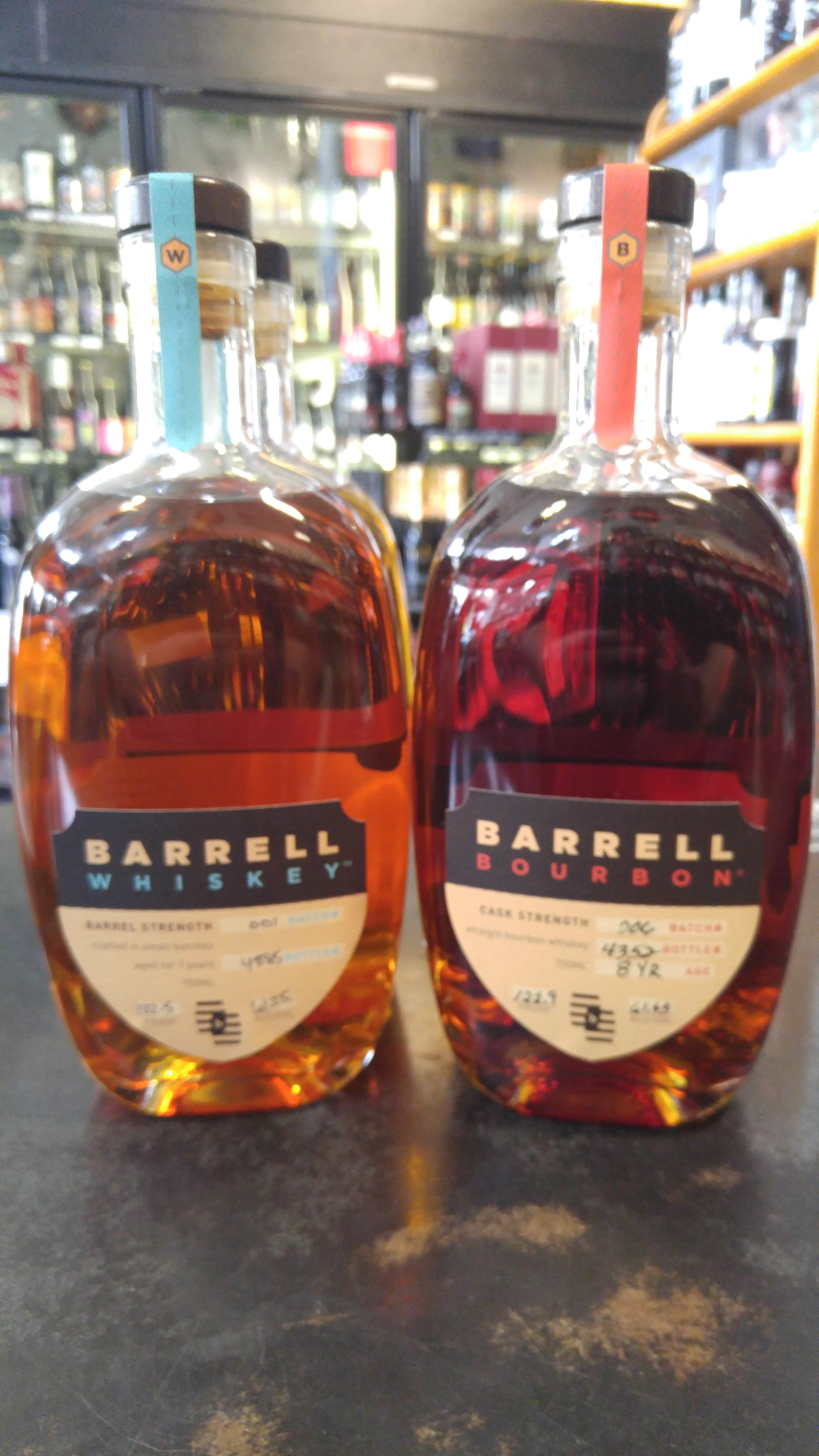 Barrell 8 Year Bourbon and Barrell 7 Year Whiskey