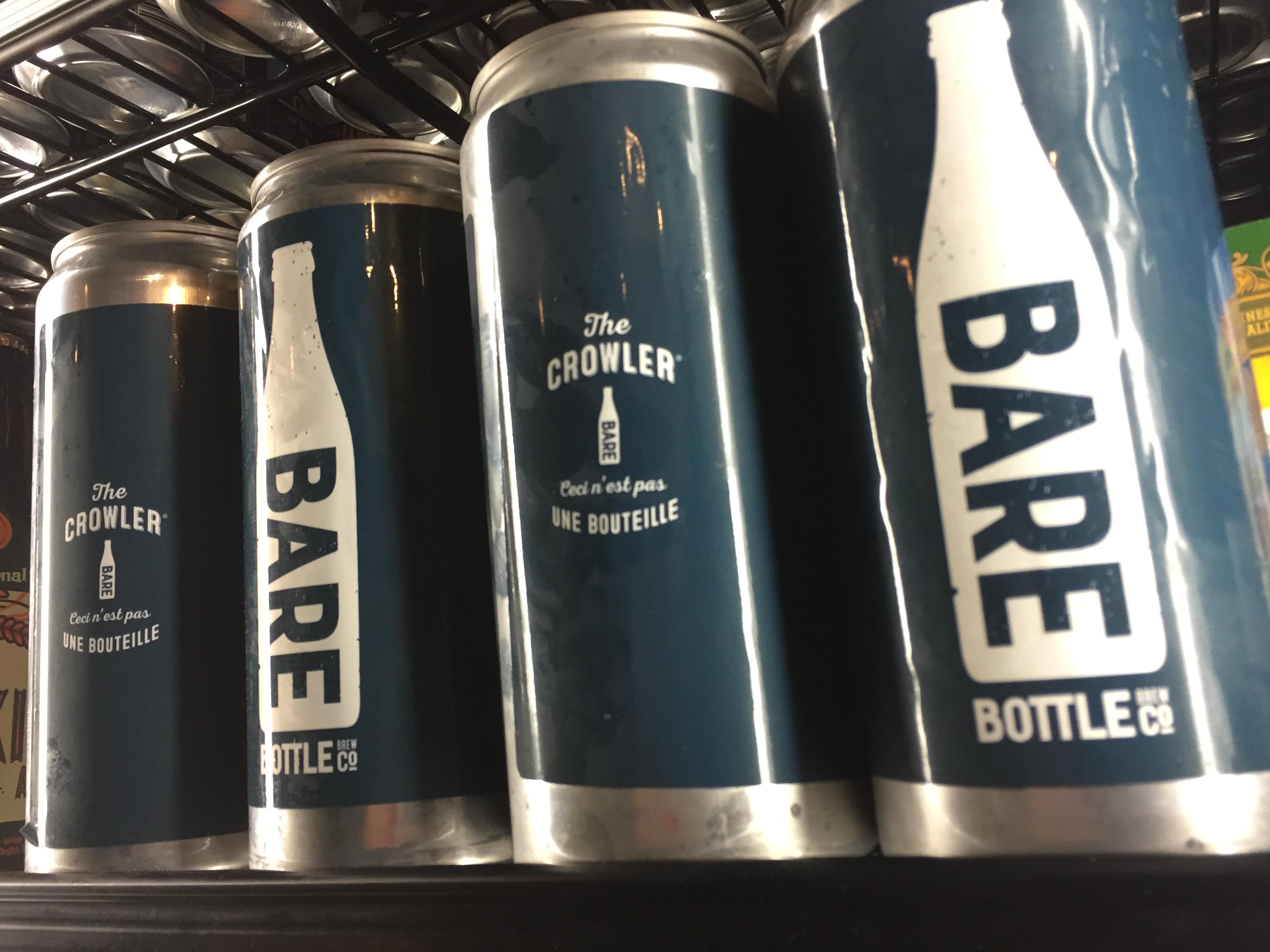 Limited Barebottle Crowlers: On Shelves Friday, September 2nd