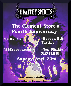 Healthy Spirits Clement 4th Anniversary Sunday April 23rd