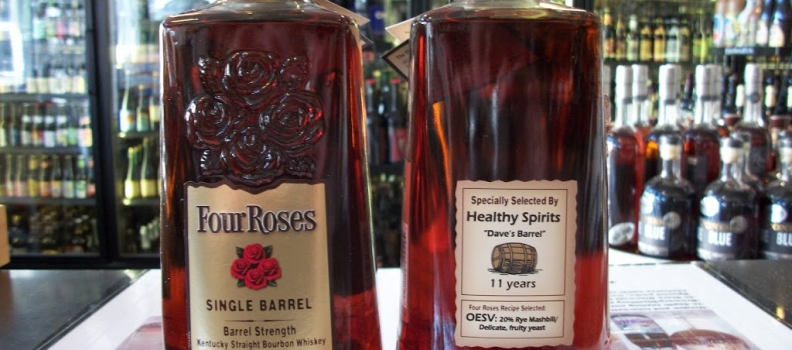 "New Arrivals: Healthy Spirits Four Roses Private Selection ""Dave's Barrel"""