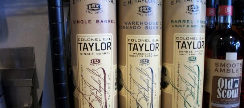 E. H. Taylor Barrel Proof, Tornado Surviving Warehouse, and Bottled in Bond Single Barrel