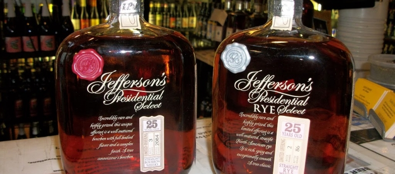 New Arrivals: Jefferson's Presidential Select 25yr Bourbon and Rye